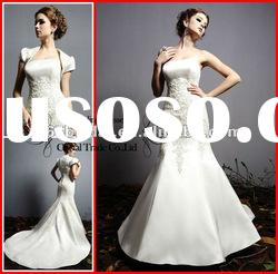 PYN2241 2012 Glamorous Sheath/Column Strapless Satin Bridal Wedding dress