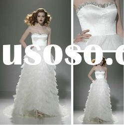 WD5683 Sweetheart Court Train Tulle 2012 Latest Bridal Wedding Gowns