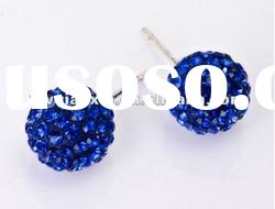 Wholesale Hot Sale Sapphire Beaded Shamballa Ear Stud Promotion