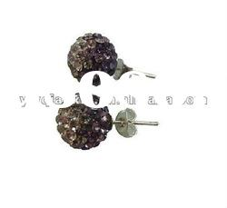 Wholesale Hot Sale Shining Beaded Shamballa Ear Stud Promotion