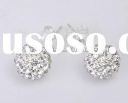 Wholesale Hot Sale Silver Beaded Shamballa Ear Stud Promotion