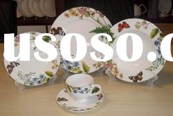 flower and butterfly design fine bone china 20pc dinner set