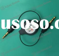 3.5mm retractable cable/ extension cable OEM factory