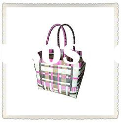Colorful PE&PP woven handmade shopping bag