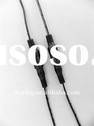 DC power connector cable wire, male female cable,nickel plated POM black plastic