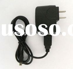 PVC cable with mini USB plug, DC power adapter, travel charger