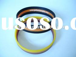 Promotional Logo Printed Top Quality Silicone stripped wristbands