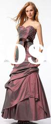 SHE189 Latest fashion strapless sweetheart neck beaded taffeta floor-length evening Dress