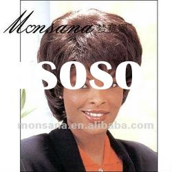 Wholesale short kinky curl human hair full lace wig for fashion ladies
