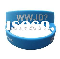 lovely and colorful Silkprinted silicone bracelet