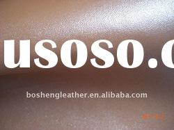 pearling cow split pu coated leather