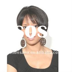 short kinky curl human hair full lace wig for fashion ladies