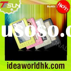 """7""""cheapest and hottest color screen ebook reader with FM funciton in factory"""