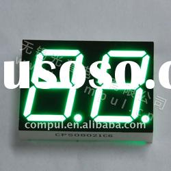 "CPS08021CG,0.80"" Pure Green Dual Digits Seven Segment LED Digital Display"