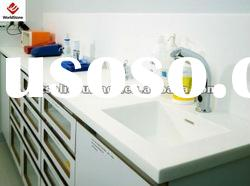 Clear white acrylic solid surface kitchen furniture