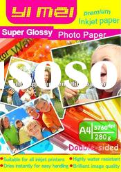 Double face A4 280g High Glossy Photo Paper