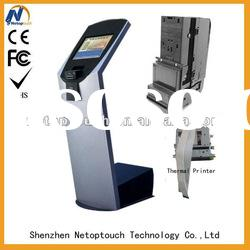 FCC touch screen payment Kiosk terminal with printer