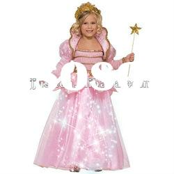 Led light decoration fashion princess dresses for kids