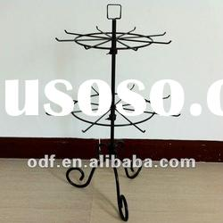 Rotating Metal Decorative Countertop Display Rack with Pigtail Sign Holder