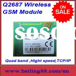 Wavecom q2687 wireless GSM / GPRS module TCP/IP support quad band high speed