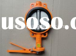 hand lever operated wafer type dn150 butterfly valve