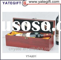 hot sale custom red wine wooden box