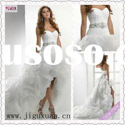 1299-1hs 2012 Hot Sale Romantic Front Short Long Back Wedding Dress
