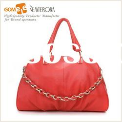 2012 New Stylish Ladies Leather Hand Bags/Professional Leather Factory All Over The World