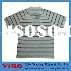 2012 new cotton short sleeve men striped polo t shirt