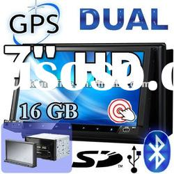 2 Din 7 inch universal Car Dvd Player with detachable panel
