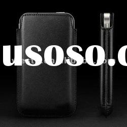 5 colour soft PU luxury Leather Case cover bag Pouch with logo for iphone 4 4G 4S