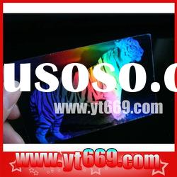 Adhesive holographic paper/holographic roll/hologram printing/3M sticker printing
