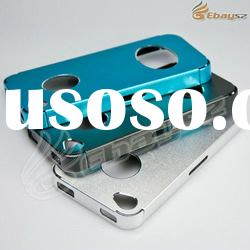 Aluminum smiling face frosted hard back case for iphone 4 4S LF-1280