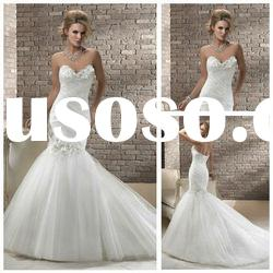 Asymmetically Ruched Tulle Mermaid Wedding Dresses Online Cheap