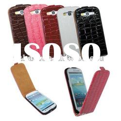 Crocodile VERTICAL Flip Leather Case Cover Pouch for Samsung Galaxy S3 S III 3 I9300