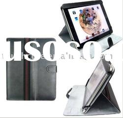 For iPad Stands Eco-friendly Vintage PU Leather in fashion black