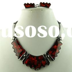 High End and Elegant Red Jewelry Choker Set, African Fashion Jewelry Set
