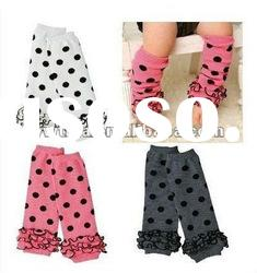 Hot Selling!Pattern Polka Dots Knitted Baby Leg Warmers