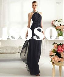 LE57 2012 Hot Sale Wholeale Custom Made Halter Beaded Chiffon Mother Dress
