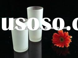 LONG frosted glass cup for daily use with beautiful drawing