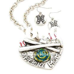 O & D Baseball Mom Latest Model Fashion Necklace Set