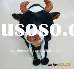Plush hats cow cute animal hat