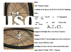 Promotion 38mm profile clincher wheels carbon