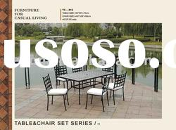 Steel outdoor furniture,Metal garden furniture table and chairs set