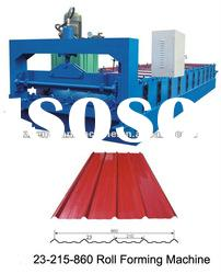 Trapezoid color steel roof panel roll forming machine