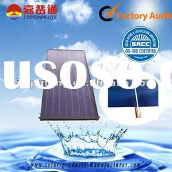 Updated flat plate water heater solar collector