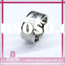 Wholesale fashion stainless steel cheap personalized rings