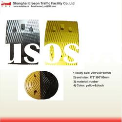 Yellow&Black good quality rubber road speed hump