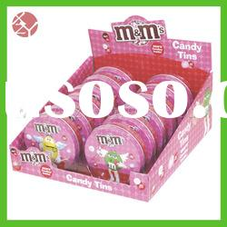 eco-friendly full printed durable round candy box