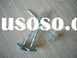 galvanized roofing screws washer nails, plastic cap ring shank roofing nail